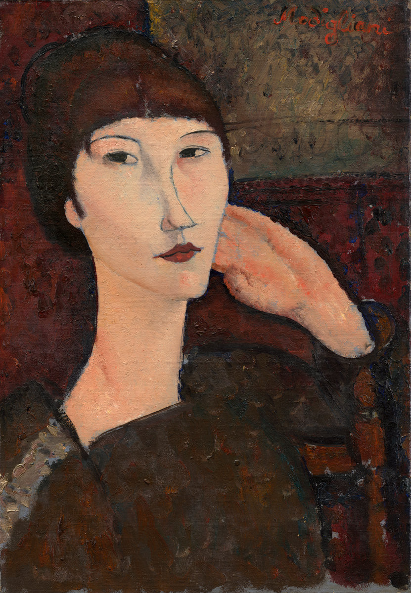 adrienne woman with bangs 1917 XX the national gallery of art washington dc usa